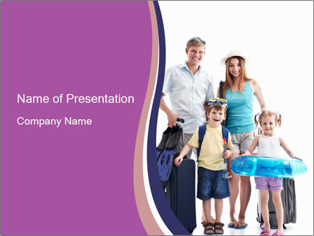 Family Travels to the South PowerPoint Templates