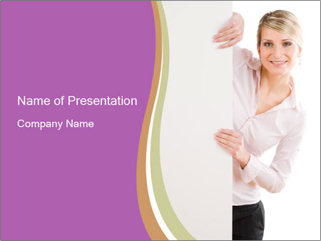 Office Employee and Board PowerPoint Template