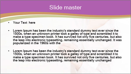 Office Employee and Board PowerPoint Template - Slide 2