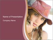 Young Cowboy Girl PowerPoint Templates