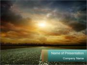 Driving During Sunrise PowerPoint Templates