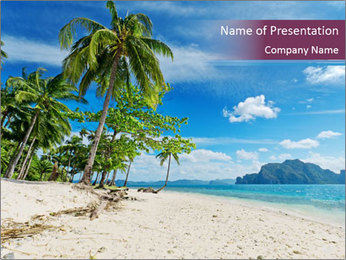 White Sand PowerPoint Template - Slide 1