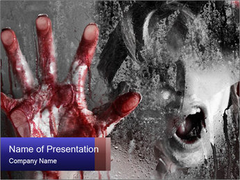 Crazy Death PowerPoint Template - Slide 1