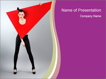 Fashion and Geometry PowerPoint Template - Slide 1