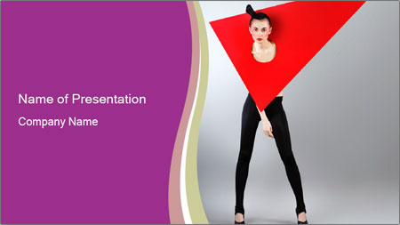 Fashion and Geometry PowerPoint Template