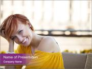 Cute European Woman PowerPoint Templates