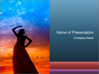 Shadow of Woman PowerPoint Template - Slide 1