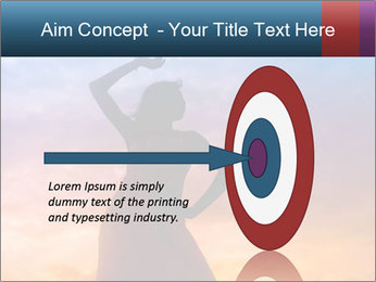 Shadow of Woman PowerPoint Template - Slide 83