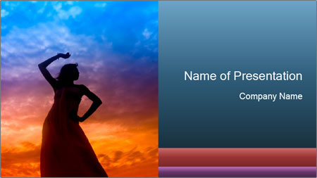 Shadow of Woman PowerPoint Template