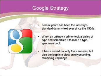 Model Sitting in Bikini PowerPoint Templates - Slide 10