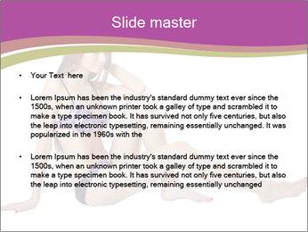 Model Sitting in Bikini PowerPoint Template - Slide 2