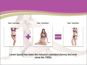 Model Sitting in Bikini PowerPoint Templates - Slide 22