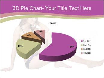 Model Sitting in Bikini PowerPoint Template - Slide 35