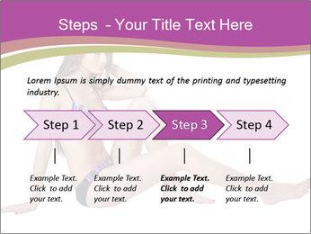 Model Sitting in Bikini PowerPoint Template - Slide 4