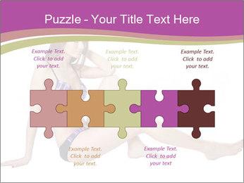 Model Sitting in Bikini PowerPoint Template - Slide 41