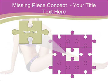 Model Sitting in Bikini PowerPoint Templates - Slide 45