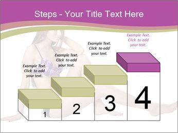 Model Sitting in Bikini PowerPoint Template - Slide 64