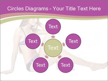 Model Sitting in Bikini PowerPoint Template - Slide 78