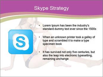 Model Sitting in Bikini PowerPoint Template - Slide 8