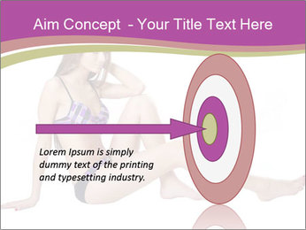 Model Sitting in Bikini PowerPoint Templates - Slide 83