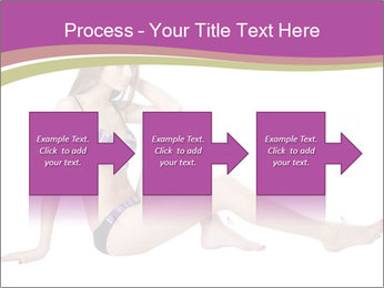 Model Sitting in Bikini PowerPoint Templates - Slide 88