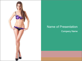 Bikini Fashion Collection PowerPoint Template - Slide 1