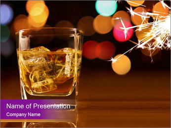 Whisly and Evening Lights PowerPoint Templates - Slide 1
