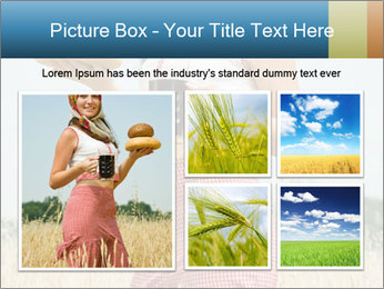 Ukrainian Woman Holding Bread and Kvass Drink PowerPoint Template - Slide 19