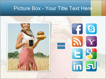 Ukrainian Woman Holding Bread and Kvass Drink PowerPoint Template - Slide 21