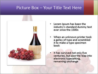 Red Wine and Fresh Grapes PowerPoint Template - Slide 13