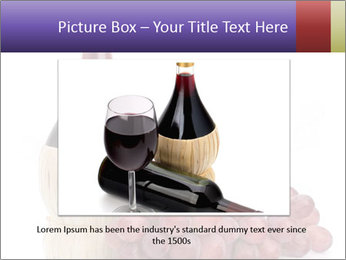 Red Wine and Fresh Grapes PowerPoint Template - Slide 15