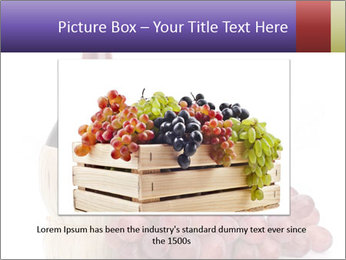 Red Wine and Fresh Grapes PowerPoint Template - Slide 16