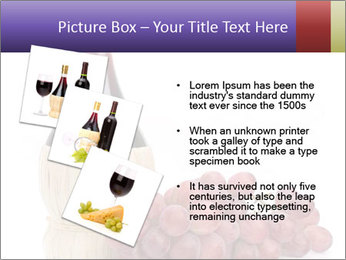 Red Wine and Fresh Grapes PowerPoint Template - Slide 17