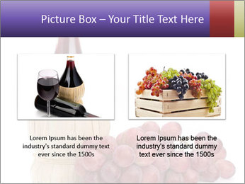 Red Wine and Fresh Grapes PowerPoint Template - Slide 18