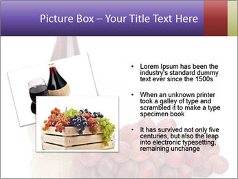 Red Wine and Fresh Grapes PowerPoint Template - Slide 20