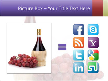 Red Wine and Fresh Grapes PowerPoint Template - Slide 21