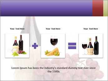 Red Wine and Fresh Grapes PowerPoint Template - Slide 22