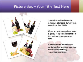 Red Wine and Fresh Grapes PowerPoint Template - Slide 23