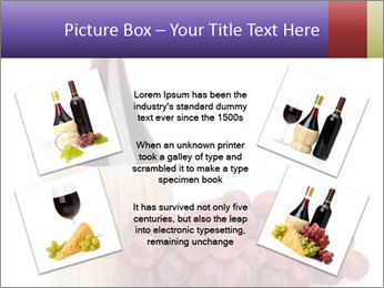 Red Wine and Fresh Grapes PowerPoint Template - Slide 24