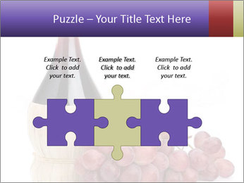 Red Wine and Fresh Grapes PowerPoint Template - Slide 42