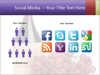 Red Wine and Fresh Grapes PowerPoint Template - Slide 5