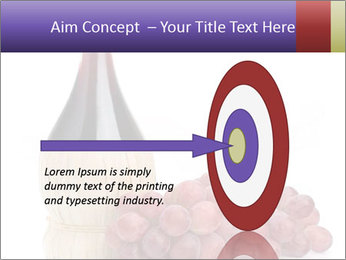 Red Wine and Fresh Grapes PowerPoint Template - Slide 83