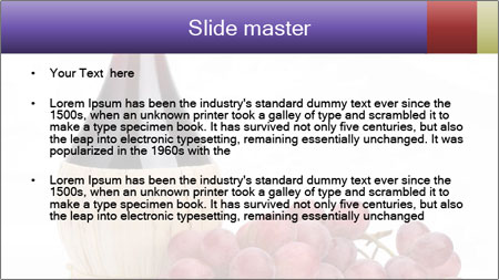 Red Wine and Fresh Grapes PowerPoint Template - Slide 2