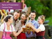 Friends at Octoberfest PowerPoint Templates