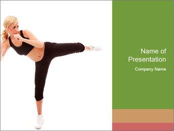Karate Training for Women PowerPoint Templates - Slide 1