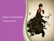 Black Gown PowerPoint Templates