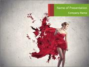 Creative Red Gown PowerPoint Templates