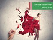 Red Gown Design PowerPoint Templates