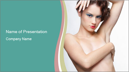 Creative Hairstyle PowerPoint Template