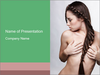 Braid Hairstyle PowerPoint Templates - Slide 1